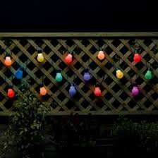 solar powered string lights colour change solar party lights