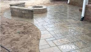 Stone Patio With Fire Pit Fire Pit U0026 Stone Patio Custom Stone Work By Gunnell Landscaping