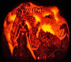 Pumpkin Carving by Noel Skyrim Dragon0407 Png