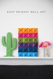 easy origami wall art gathering beauty