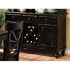 Black Buffet Server by Furniture Of America Quillis Wine Rack Buffet In Rustic Pine