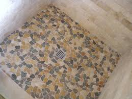 attractive pebble tile shower floor john robinson house decor