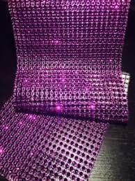 bling ribbon 5 ft purple bling ribbon wrap roll rhinestone sparkle