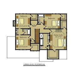 Floor Plan Of 4 Bedroom House Two Story Four Bedroom House Plan With Garage