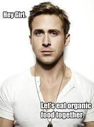 Organic Food Meme - hey girl let s eat organic food together ryan gosling hey girl