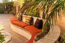 astonishing curved outdoor seating designing tips with built in