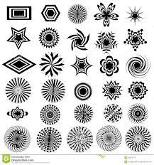 black white design black white design logo elements stock illustration