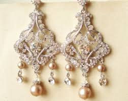 Colorful Chandelier Earrings Vintage Bridal Earrings Chandelier Wedding Earrings Art Deco