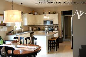 Painted White Kitchen Cabinets Before And After Kitchen Blue Grey Painted Kitchen Cabinets With Country Ideas