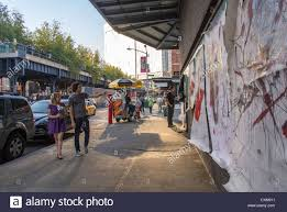 Wall Scenes by New York City Ny Usa Street Artist Painting Wall Scenes In The