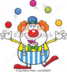 clown juggling with balls clown vector
