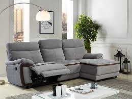 canape d angle relax electrique canapé d angle relax électrique en tissu gris provo