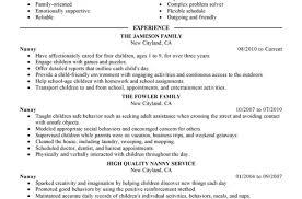 nanny caregiver resume examples sample nanny resume 100 basic resume objective basic resume