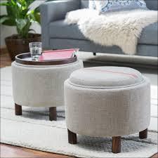 Small Leather Ottoman Furniture Fabulous Circle Storage Ottoman Small White Round