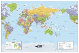 map of asai asia europe centered world wall map maps