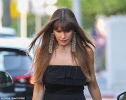 Huge Chandelier Earrings Sofia Vergara Rocks Massive Earrings U0026 Black Dress In Weho Daily