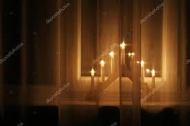 christmas lights decoration on windowsill u2014 stock photo ronstik