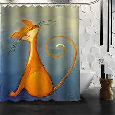 Waterproof Fabric Shower Curtains Online Get Cheap Fabric Cat Shower Curtain Aliexpress Com