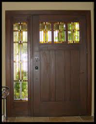 Craftsman 3 Panel Interior Door Heart Of Oak Workshop Authentic Craftsman U0026 Mission Style Doors