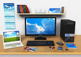 ordinateur de bureau travail de bureau avec ordinateur de bureau ordinateur portable et
