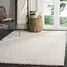 8 by 10 area rugs amazon com safavieh athens shag collection sga119b white area rug