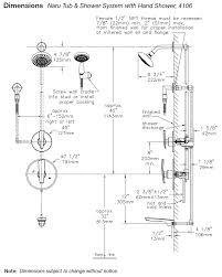 Bathtub Faucet Height Standard Symmons Naru Tub Shower Systems