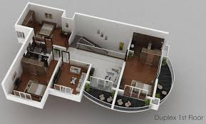 farmhouse plan 3d duplex house plan india sideside duplex house plans classic