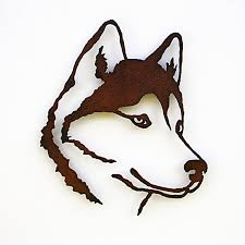 siberian husky wall art 19 5 tall husky rusted steel