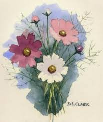 the paint basket how to paint cosmos flowers in watercolor