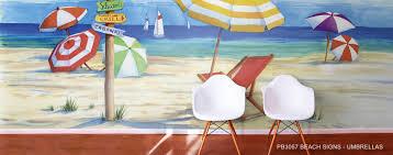 beach chair wall mural wallpaper beach chair murals