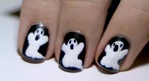 halloween ghost nail art youtube