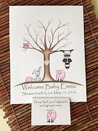 baby shower fingerprint tree print finger tree baby shower