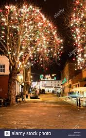 the attractive christmas lights and decorations in busy oxford