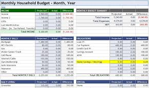 How To A Household Budget Spreadsheet 3 Household Budget Spreadsheet Templates Excel Xlts