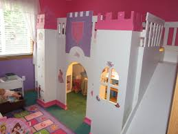 grandiose kids room decors ideas with castle princess bed and