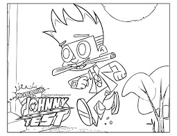 johnny test coloring pages to print inside snapsite me