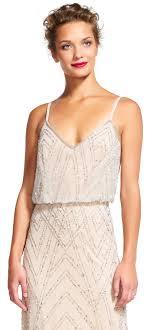blouson wedding dress beaded blouson dress papell