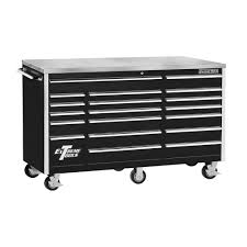 stainless steel workbench cabinets extreme tools 72 in 18 drawer triple bank standard roller cabinet