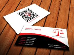 Business Cards Attorney Serious Bold Business Card Design For Douglas Herring By