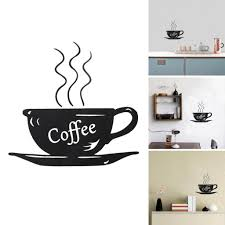kitchen modern black wall decal for coffee kitchen decor using modern black wall decal for coffee kitchen decor using cup and saucer theme