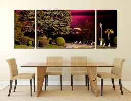 3 piece huge canvas print scenery canvas wall art green multi