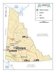 Yukon River Map White River Alianza Minerals Ltd