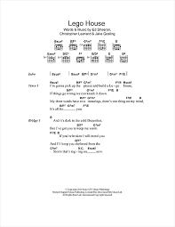 lego house tutorial guitar easy lego house sheet music by ed sheeran lyrics chords 114287