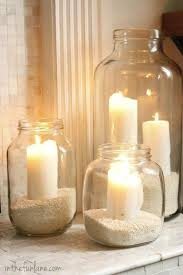 Mason Jar Home Decor Ideas Best 25 Glass Jars Ideas On Pinterest Jars Recycled Jars And