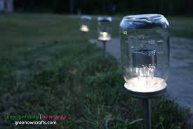 how to make a solar light from scratch green owl crafts upcycled mason jar solar lights