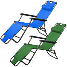 Folding Chaise Lounge Essential Garden Chaise Folding Lounge Chair Patio Camping Sun