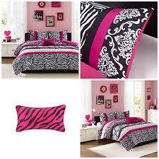 Black Comforter King Size Pink Zebra Bedding Ebay