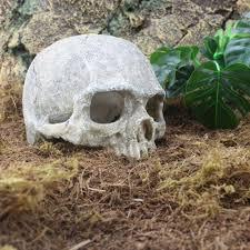 resin skull fish tank aquarium hiding decor terrarium reptile