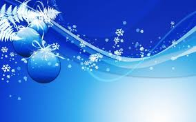 blue christmas background snowflakes and ornaments