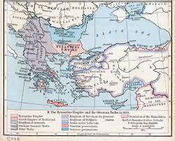 Byzantine Ottoman Of The Byzantine Empire And The Ottoman Turks In 1355